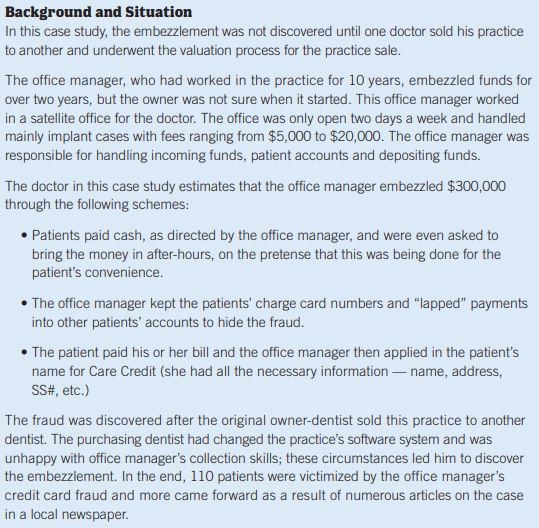 The Doctor's Guide to Employee Embezzlement   MDManagement Group
